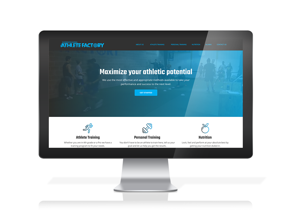 Bloomington-Normal Athlete Factory Web Design